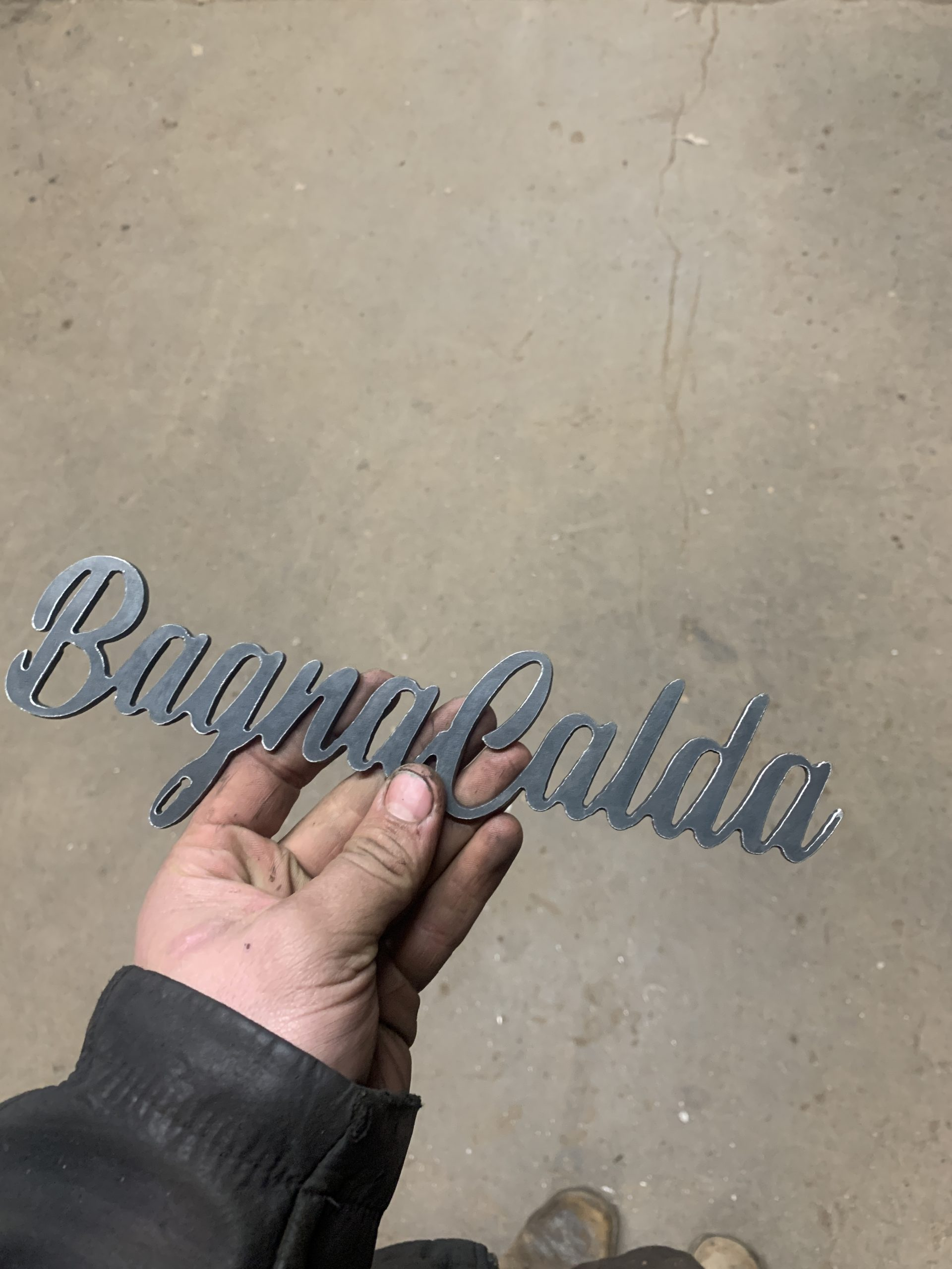 Decorative Sign in 11 gauge Steel